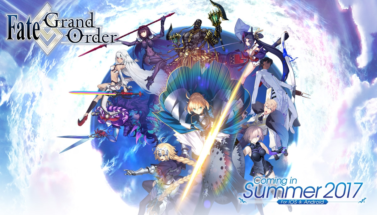 Fate/Grand Order English Version  to be Launched in Summer 2017