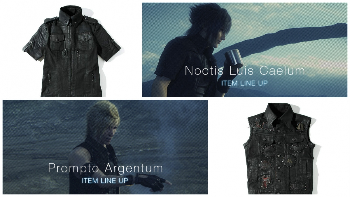 the o network official final fantasy xv clothing by roen preorder open